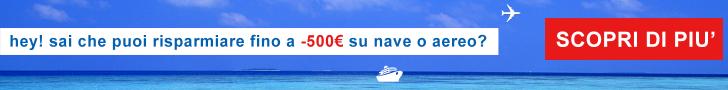 Fino a -500€ di sconto su nave e aereo